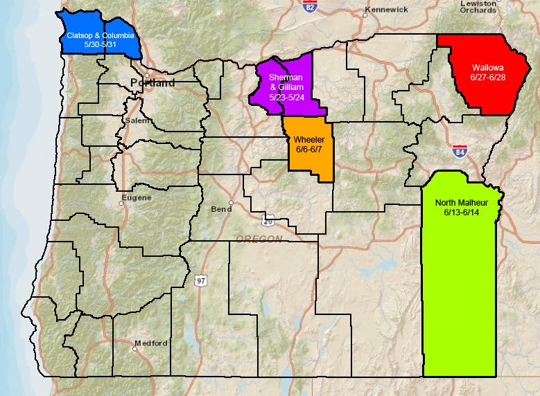 2015 County Birding Blitzes
